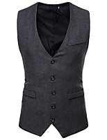 cheap -Gentleman Kingsman Vintage Masquerade Vest Waistcoat Men's Costume Black / Camel / Gray Vintage Cosplay Event / Party Sleeveless