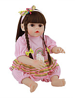 cheap -FeelWind 18 inch Reborn Doll Baby & Toddler Toy Reborn Toddler Doll Baby Girl Gift Cute Lovely Parent-Child Interaction Tipped and Sealed Nails Full Body Silicone LV074 with Clothes and Accessories