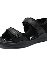 cheap -Boys' Slingback Pigskin Sandals Little Kids(4-7ys) / Big Kids(7years +) Walking Shoes Black / Brown Summer / Fall / Color Block