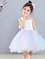 cheap -Kids' Dancewear Dress Ruching Girls' Training Daily Wear Sleeveless Polyester