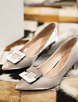 cheap -Women's Heels Spring / Summer Pumps Pointed Toe Business Sexy Party & Evening Office & Career Sparkling Glitter Slogan Microfiber / Synthetics Walking Shoes Black / Beige