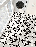 cheap -PVC antiskid twill printing black flower splicing paste bathroom bedroom living room DIY floor paste