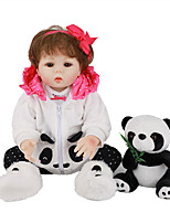 cheap -FeelWind 18 inch Reborn Doll Baby & Toddler Toy Reborn Toddler Doll Baby Girl Gift Cute Lovely Parent-Child Interaction Tipped and Sealed Nails Full Body Silicone LV029 with Clothes and Accessories