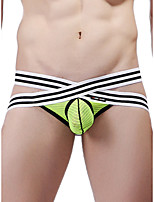 cheap -Men's Basic G-string Underwear - Normal Low Waist Light Blue Yellow S M L