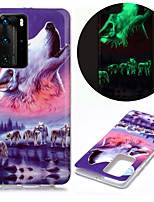 cheap -Case For Huawei Huawei P20 Pro / Huawei P20 lite / Huawei P30 Glow in the Dark / IMD / Pattern Back Cover Animal TPU