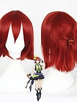 cheap -Cosplay Wig Kaname Buccaneer Macross Delta Straight Cosplay Halloween With Bangs Wig Short Red Synthetic Hair 14 inch Women's Anime Fashionable Design Cosplay Red