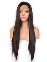 cheap -Vogue Queen Dark Brown Long Straight Synthetic Lace Front Wig High Density Natural Hairline Daily Wearing For Women