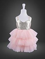 cheap -Kids' Dancewear Tutu Dress Dress Ruching Girls' Training Performance Polyester