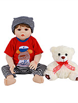 cheap -FeelWind 18 inch Reborn Doll Baby & Toddler Toy Reborn Toddler Doll Baby Boy Gift Cute Lovely Parent-Child Interaction Tipped and Sealed Nails Full Body Silicone LV014 with Clothes and Accessories