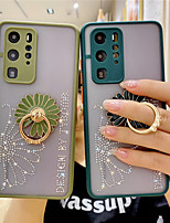 cheap -Glitter Flower Phone Case for Honor 30 30S 30Pro X10 Nova 7 7SE 7Pro 6 5 5Pro P40 P40Pro P30 P30Pro Mate 30 30Pro Cover with Holder Ring