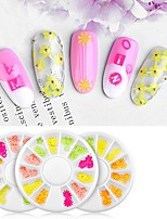 cheap -12 pcs Creative / Light and Convenient Plastics Decals For Finger Nail Flower nail art Manicure Pedicure Party / Evening / Daily Sweet / Cute