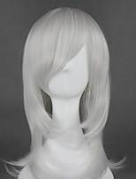 cheap -Cosplay Wig Kurookano Shijima Nabari No Ou Curly Cosplay Halloween With Bangs Wig Medium Length Silver Synthetic Hair 21 inch Women's Anime Fashionable Design Cosplay Silver
