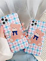 cheap -Leather Pattern Bear Case For iPhone 11 Pro Max Silicone Phone Cover for iPhone 7 8 Plus X XS XR XS Max se 2020 Cases Soft TPU Cover For iPhone