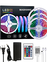 cheap -MASHANG 15M(3*5M) LED Strip Lights RGB Tiktok Lights 900LEDs Flexible Color Change SMD 5050 with 24 Keys IR Remote Controller and 100-240V Adapter for Home Bedroom Kitchen TV Back Lights DIY Deco