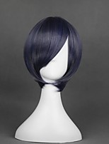 cheap -Cosplay Wig Ciel Phantomhive A Kuroshitsuji Straight Cosplay Halloween With Bangs Wig Short Grey Synthetic Hair 12 inch Men's Anime Cosplay Cool Gray