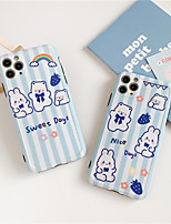cheap -Hot Super Luxury brand Skin texture moschin case for iphone 11 7 8 plus Pro X XS MAX se 2020 cute bear Soft silicon fashion Back cover