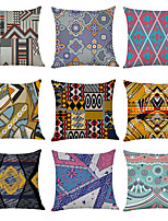 cheap -9 pcs Linen Pillow Cover,  Gorgeous Casual Modern Square Traditional Classic