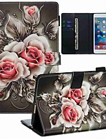 cheap -Case For Apple iPad Mini 3/2/1 / iPad Mini 4 / iPad Mini 5 Wallet / Card Holder / with Stand Full Body Cases Flower PU Leather / TPU