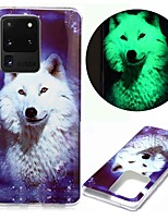 cheap -Case For Samsung Galaxy S20 S20 Plus S20 Ultra Glow in the Dark Pattern Back Cover Star Wolf TPU for Galaxy A21 A11 A01 A70E A51 A71