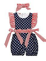 cheap -Baby Girls' Basic Flag Sleeveless Romper Navy Blue