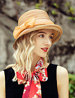 cheap -Headwear Fashion Natural Fiber Hats with Bowknot 1pc Casual / Daily Wear Headpiece