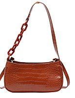 cheap -Women's Zipper / Chain PU Leather Crossbody Bag Leather Bag Solid Color Light Coffee / White / Black