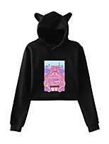 cheap -Inspired by Sailor Moon Cosplay Costume Hoodie Poly / Cotton Print Printing Hoodie For Women's