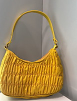 cheap -Women's Zipper / Chain Polyester Top Handle Bag 2020 Solid Color Black / Yellow / Green