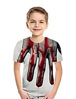 cheap -Kids Boys' Street chic 3D Short Sleeve Tee White