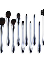 cheap -Professional Makeup Brushes 10pcs Soft Full Coverage Artificial Fibre Brush Plastic for Foundation Brush Makeup Brush Set