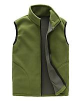 cheap -Men's Hiking Fleece Vest Winter Outdoor Thermal Windproof Fleece Lining Breathable Vest / Gilet Top Single Slider Full Length Visible Zipper Hunting Ski / Snowboard Fishing Black / Red / Green / Dark