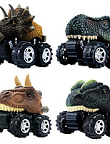 cheap -Vehicle Playset Pull Back Car / Inertia Car Jurassic Dinosaur Tyrannosaurus Tyrannosaurus Rex Creative Cool PVC (Polyvinylchlorid) Plastic Mini Car Vehicles Toys for Party Favor or Kids Birthday Gift