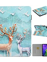 cheap -Case For Apple iPad 10.2 iPad Pro 11 2020 iPad Air 10.5 2019 Card Holder with Stand Pattern Full Body Cases Animal PU Leather iPad Mini 12345 2017 2018 Pro 9.7