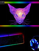 cheap -Rgb Creative Fashion Map Bright Cat Luminous Mouse Pad Multi Color Dazzle Color Gradient Can Be Customized 250 * 350 * 4mm