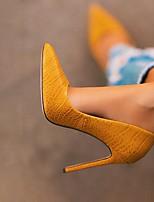 cheap -Women's Heels Summer Stiletto Heel Pointed Toe Daily PU Yellow / Pink
