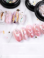 cheap -1 pcs Creative / Durable Cowry Nail Jewelry For Finger Nail Shell nail art Manicure Pedicure Party / Evening / Festival Elegant / Sweet