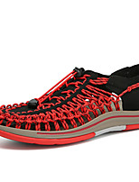 cheap -Men's Summer Casual / Beach / Roman Shoes Daily Outdoor Sandals Water Shoes / Upstream Shoes Elastic Fabric Breathable Black / Red / Blue