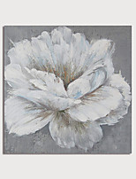 cheap -Hand Painted Canvas Oilpainting Abstract White Flower by Knife Home Decoration with Frame Painting Ready to Hang