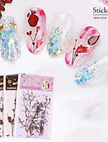 cheap -1 pcs Creative / Light and Convenient Plastics Decals For Finger Nail Flower nail art Manicure Pedicure Party / Evening / Festival Sweet