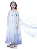 cheap -Elsa Dress Crown Movie Cosplay Light Purple Dress Tiaras