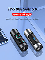 cheap -LITBest K08 TWS True Wireless Earbuds Wireless Bluetooth 5.0 Stereo Dual Drivers with Volume Control HIFI with Charging Box for Mobile Phone