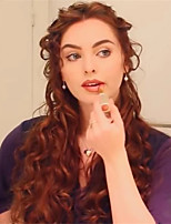 cheap -Synthetic Wig Curly Middle Part Wig Very Long Brown Synthetic Hair 26 inch Women's Fashionable Design Best Quality curling Brown