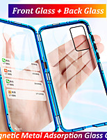 cheap -Magnetic Metal Double Side Tempered Glass Phone Case for Huawei P40 P40 Lite P40 Pro P30 P30 Lite P30 Pro Honor X10 Honor 30 Honor 30S Honor 30 Pro 9X 9X Pro 20 20 Pro