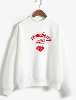 cheap -Women's Sweatshirt Letter Basic White Black Red Blushing Pink Khaki Green Navy Blue Gray Light Blue M L XL XXL
