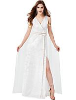cheap -Roman Costumes Movie / TV Theme Costumes Dress Outfits Masquerade Women's Movie Cosplay Retro White Dress Cloak Headwear Halloween Carnival Masquerade Polyester / Waist Belt / Bracelets
