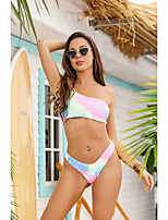 cheap -Women's Tankini Swimsuit Print Geometric Swimwear Bathing Suits Rainbow