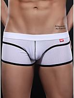 cheap -Men's Basic Boxers Underwear - Normal Low Waist White Fuchsia Gray S M L