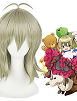 cheap -Cosplay Wig Makio Kidoin Lance N Masques Straight Cosplay Halloween With Bangs Wig Medium Length Grey Synthetic Hair 16 inch Women's Anime Cosplay Easy to Carry Gray