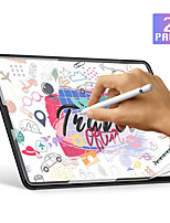 cheap -2pcs Paperlike Screen Protector for iPad Pro Screen Protector for Apple iPad Air Drawing High Touch Sensitivity Anti Glare Film Compatible with Apple Pencil & Face ID