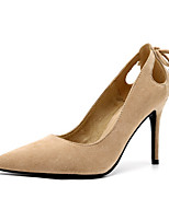 cheap -Women's Heels Spring / Fall Stiletto Heel Pointed Toe Daily Suede Almond / Black / Brown